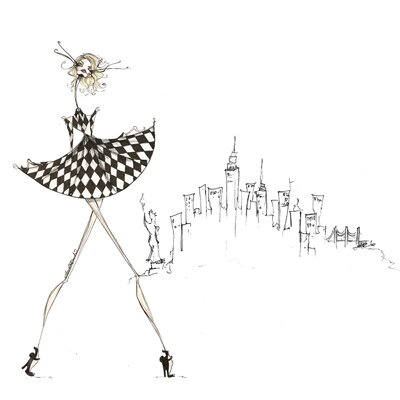 City Gal Painting Print on Canvas