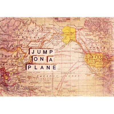 Jump On a Plane Painting Prints on Canvas