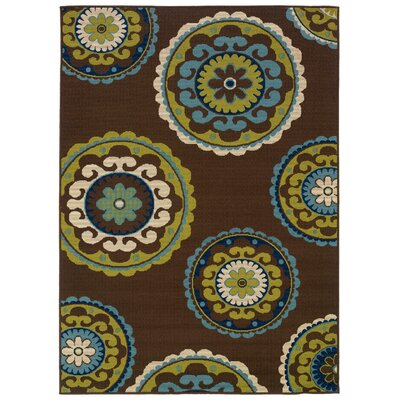 Oriental Weavers Caspian Brown/Green Indoor/Outdoor Rug