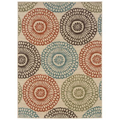 Oriental Weavers Montego Ivory Multi Indoor/Outdoor Rug