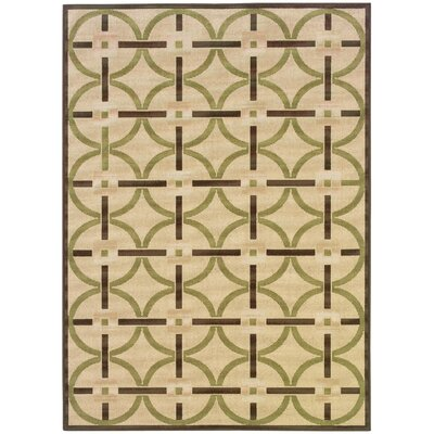 Oriental Weavers Montego Floral Ivory/Brown Outdoor Rug