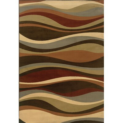 Oriental Weavers Sphinx Darcy Brown/Green Abstract Rug