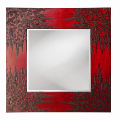 Howard Elliott Dylan Wall Mirror in Drizzled Textured Red