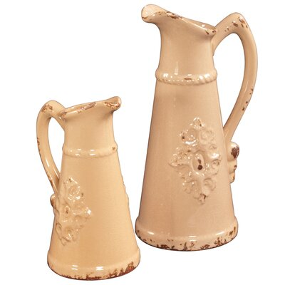 <strong>Howard Elliott</strong> 2 Piece Tall Ceramic Pitcher Set