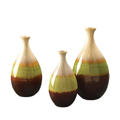 3 Piece Teardrop Vase Set