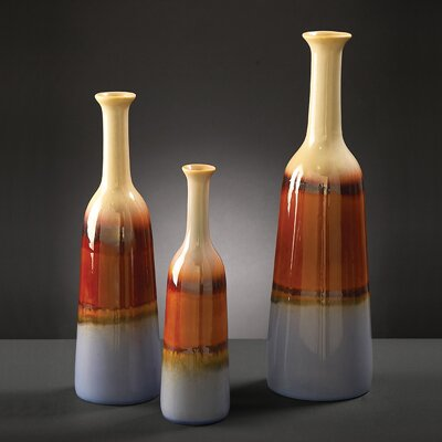 3 Piece Bottle Vase Set