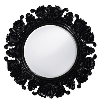 Howard Elliott Anita Round Framed Mirror in Black