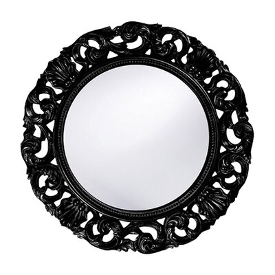 Glendale Round Wall Mirror in Black