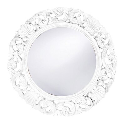 Howard Elliott Glendale Round Wall Mirror in White