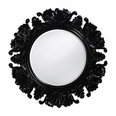 Anita Round Framed Mirror in Black
