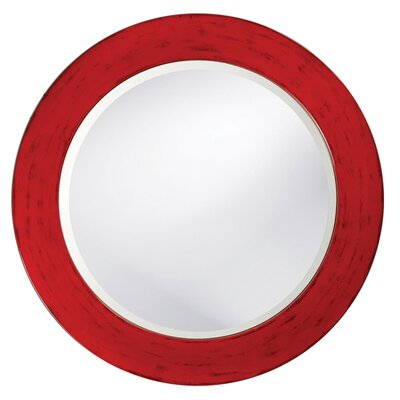 Howard Elliott Hailey Round Wall Mirror in Red