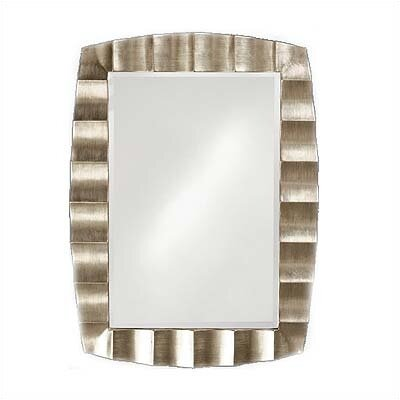 Howard Elliott Bangkok Wall Mirror in Burnished Silver