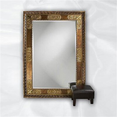 Howard Elliott Tate Leaner Mirror in Deep Bronze with Antique Bronze Accents