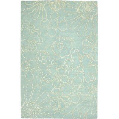 Avant Garde Skyblue Floral Rug