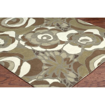 Rizzy Rugs Floral Brown Rug