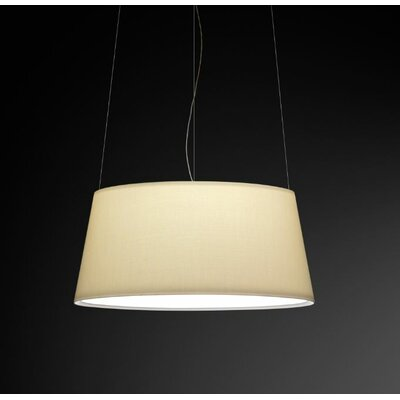 Warm Medium Pendant with Off White Shade