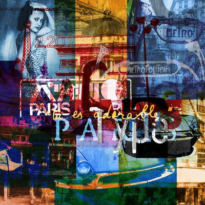 Paris Vibes 2 Graphic Art on Canvas