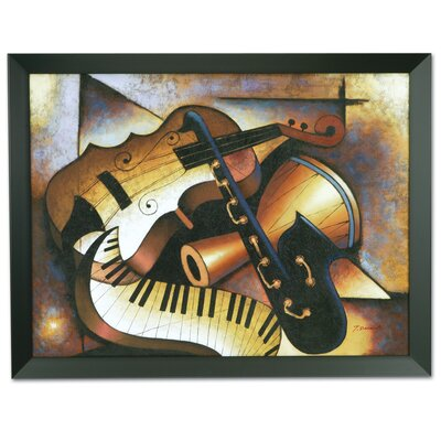 Wildon Home ® 'Music' Framed Original Painting on Canvas