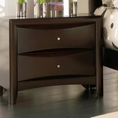 Wildon Home ® Applewood 2 Drawer Nightstand