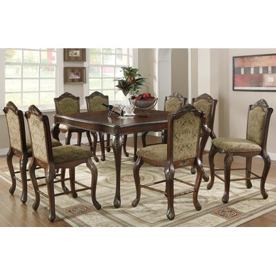 Wildon Home ® Linea 9 Piece Counter Height Dining Set
