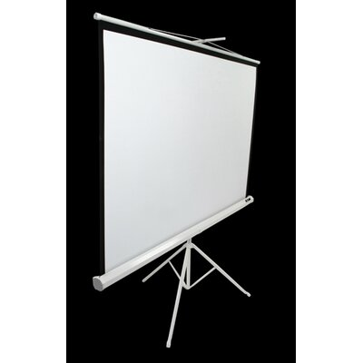 "Elite Screens MaxWhite Tripod Series Tripod / Portable Pull Up Projector Screen - 136"" Diagonal in White Case"
