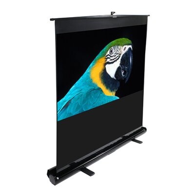 "Elite Screens MaxWhite ez-Cinema Series Floor Stand TeleScoping Pull Up Screen - 80"" Diagonal"