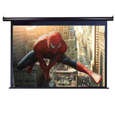 "Elite Screens MaxWhite VMAX2 Plus2 Series ezElectric / Motorized Screen - 106"" Diagonal in Black Case"