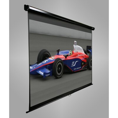 "Elite Screens Manual Pull Down MaxWhite 80"" Projection Screen in Black Case"