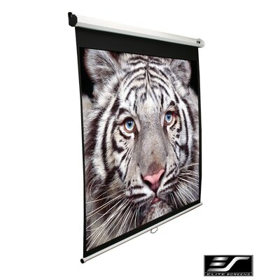 Elite Screens Ceiling/Wall Mount Manual Pull Down Projection Screen