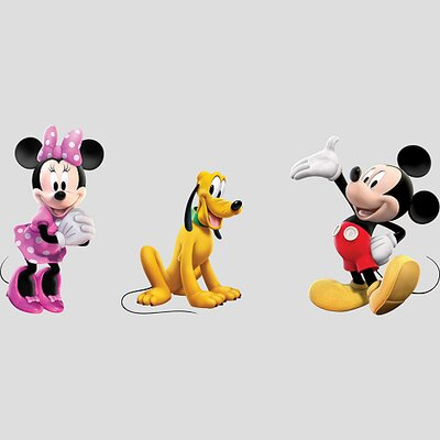 Fathead Mickey, Minnie and Pluto Wall Graphic