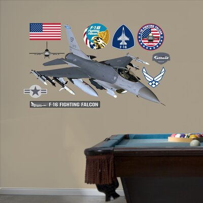 Military F-16 Falcon Wall Graphic