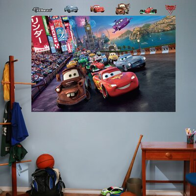 Disney Cars 2 Parade Wall Mural