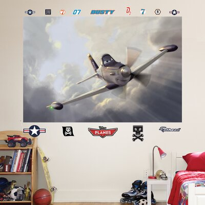 Disney planes dusty wall mural wayfair for Disney planes wall mural