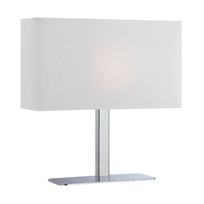 "Lite Source Levon 15"" H Table Lamp with Rectangle Shade"