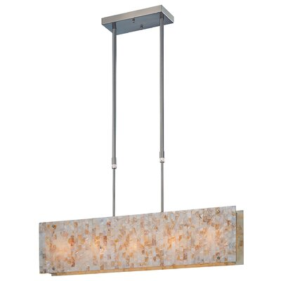 Schale Kitchen Island Light in Polished Steel