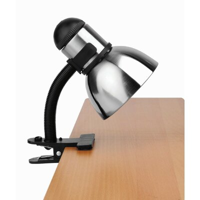 Lite Source Henrick  Gooseneck Reading Lamp with Clamp in Black and Steel