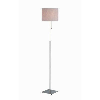 Lite Source Mikka Adjustable Floor Lamp with Rattan Shade