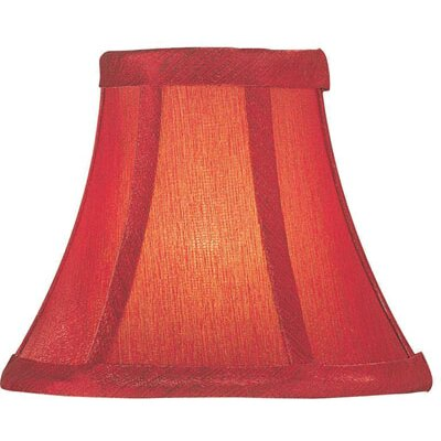 Lite Source Candelabra Lamp Shade in Red Silk
