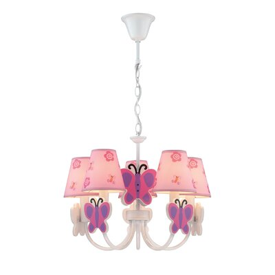 Lite Source Farfalla 5 Light Chandelier