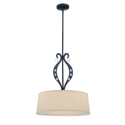 Lite Source Lyre 3 Light Drum Pendant
