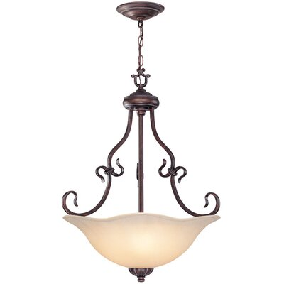 Lite Source 3 Light Inverted Pendant