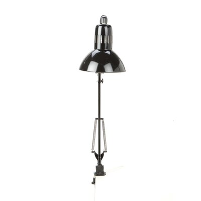 """Lite Source Swing Arm  Reading 35"""" H Table Lamp with Bowl Shade"""