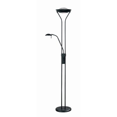 lite source torchiere floor lamp and reading light combination. Black Bedroom Furniture Sets. Home Design Ideas