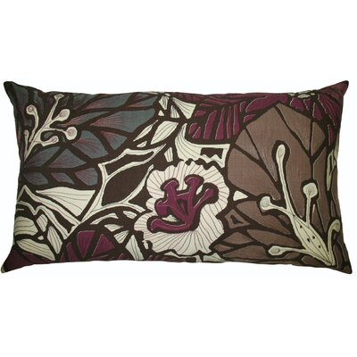 Koko Company Flora 15 x 27 Pillow in Brown/Eggplant.