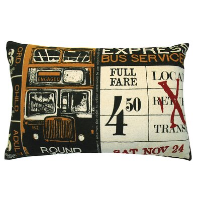 Koko Company Ticket Pillow in Yellow