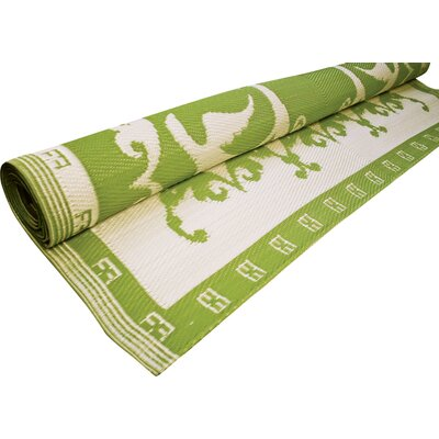 Koko Company Lime/Offwhite Optic Floormat