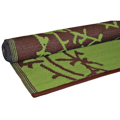 Koko Company Lime/Brown Branches Floormat