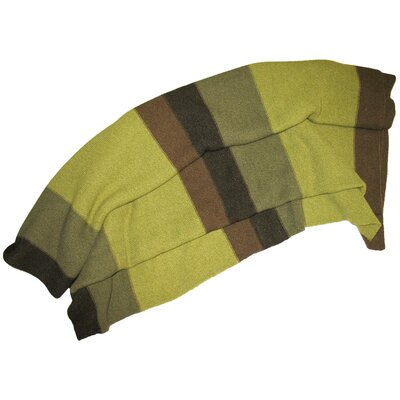 Koko Company Alpaca Baby Alpaca Stripe Throw in Green