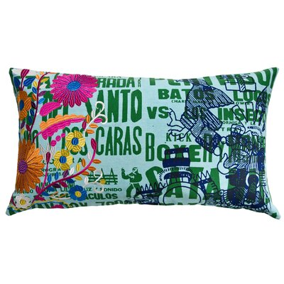 Koko Company Mexico Cotton Eagle Print Pillow