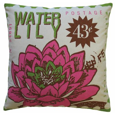 Koko Company Postage Cotton Waterlily Print Pillow